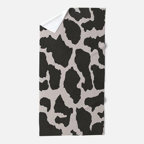 cowhide, cow pattern Beach Towel
