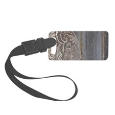 rustic country barn wood lace Luggage Tag