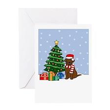 Chocolate Lab Holiday Greeting Card