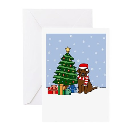 Chocolate Lab Christmas Greeting Cards (Pk of 20)