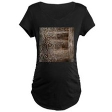 barn wood lace western country Maternity T-Shirt