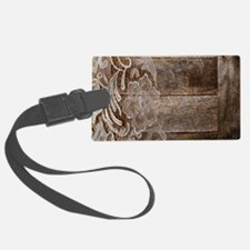barn wood lace western country Luggage Tag