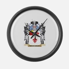 Fredericks Coat of Arms - Family Large Wall Clock