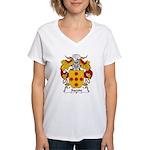 Sacoto Family Crest  Women's V-Neck T-Shirt