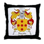 Sacoto Family Crest  Throw Pillow