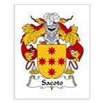 Sacoto Family Crest  Small Poster