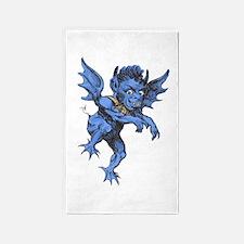 Vintage Halloween Gargoyle Demon Area Rug