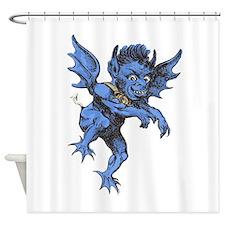 Vintage Halloween Gargoyle Demon Shower Curtain