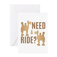Need A Ride Greeting Cards