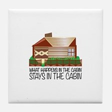 Stays In The Cabin Tile Coaster