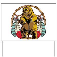 Bear Dream Catcher Yard Sign