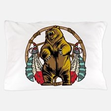 Bear Dream Catcher Pillow Case