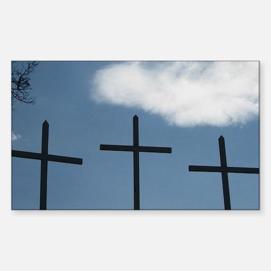 3 Crosses Decal
