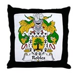 Robles Family Crest Throw Pillow