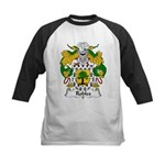 Robles Family Crest Kids Baseball Jersey