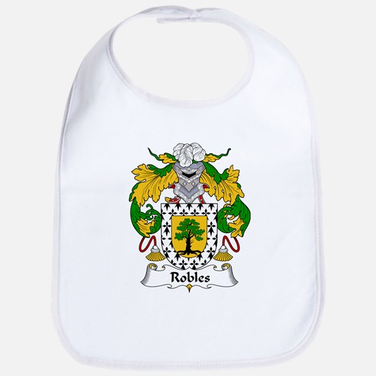 Robles Family Crest Bib
