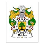 Robles Family Crest Small Poster