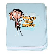 Mr Bean: What's That Teddy? baby blanket