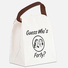 Retro 40th Birthday Canvas Lunch Bag