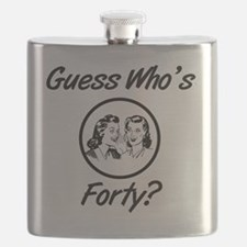 Retro 40th Birthday Flask
