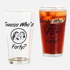 Retro 40th Birthday Drinking Glass