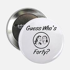 "Retro 40th Birthday 2.25"" Button (10 pack)"