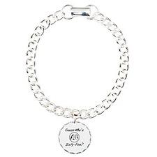 Retro 65th Birthday Charm Bracelet, One Charm