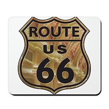 Golden Route66 Mousepad
