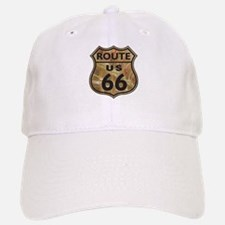 Golden Route66 Baseball Baseball Cap