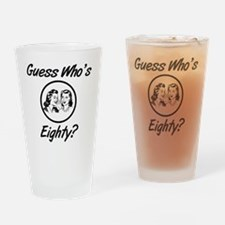 Retro 80th Birthday Drinking Glass
