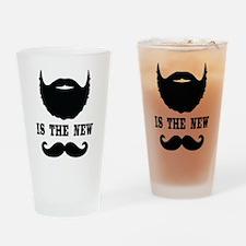 Beard Is New Mustache Drinking Glass