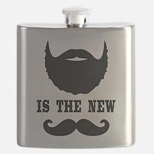 Beard Is New Mustache Flask