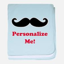 Customizable Mustache baby blanket