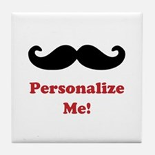 Customizable Mustache Tile Coaster