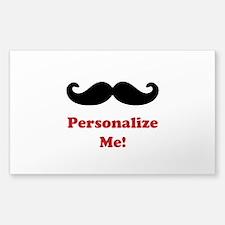 Customizable Mustache Sticker (Rectangle)