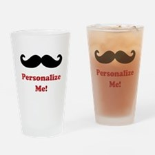 Customizable Mustache Drinking Glass