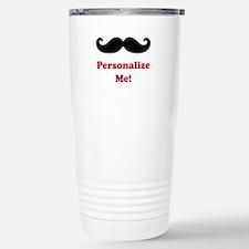 Customizable Mustache Travel Mug
