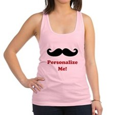 Customizable Mustache Racerback Tank Top