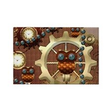 Steampunk , cute owl Magnets