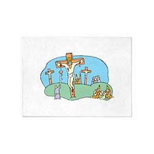 crucifixion 5'x7'Area Rug