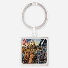 True sons of freedom Vintage Poste Square Keychain