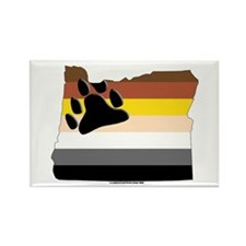 Oregon bear Rectangle Magnet