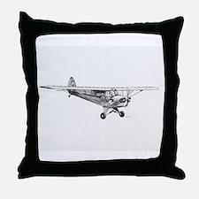 Piper Cub Throw Pillow