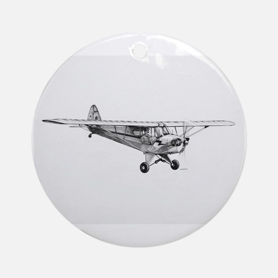 Piper Cub Ornament (Round)