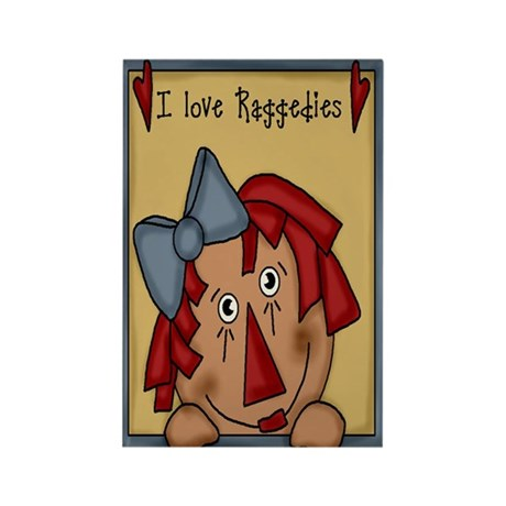 luv raggedies Rectangle Magnet