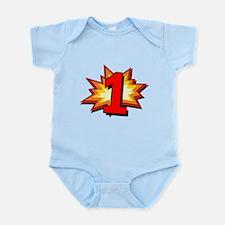 1st Birthday Comic Book Infant Bodysuit
