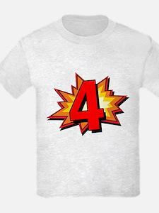 4th Birthday Comic Book T-Shirt