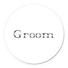 Groom Round Car Magnet