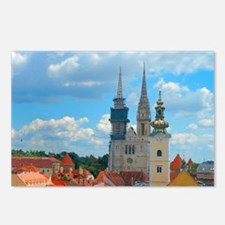 Croatia Skyline  Postcards (Package of 8)