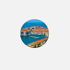 Croatia Harbor Mini Button